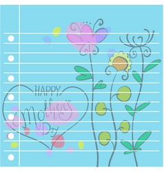 collection of mother day card style vector image