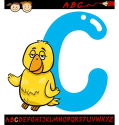 letter c for canary cartoon vector image