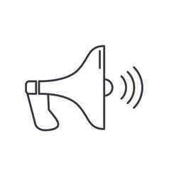 loudspeaker line icon sign vector image