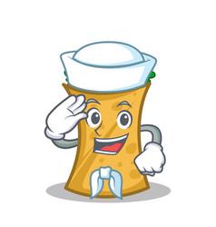 sailor kebab wrap character cartoon vector image vector image