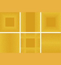 set of golden glitter background and square frame vector image