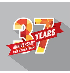 37th Years Anniversary Celebration Design vector image vector image