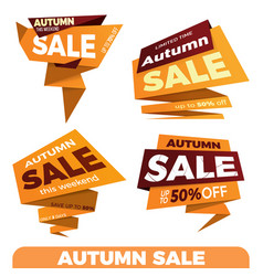 autumn sale sale label price tag banner badge vector image vector image