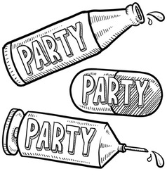 Drugs and alcohol party vector image vector image