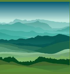 flat landscape beautiful hills vector image