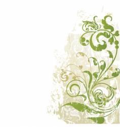 floral edge design grunge vector image vector image