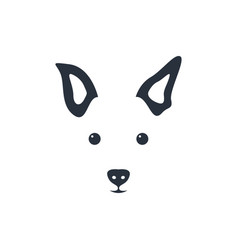 silhouette simple head dog vector image vector image