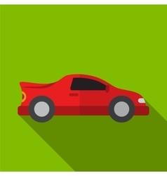 Sport car flat icon vector image