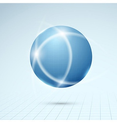 Blue globe - connection concept vector image