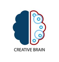 creative brain logo vector image