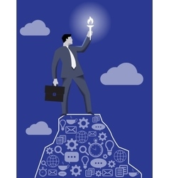 Leading in the darkness business concept vector image