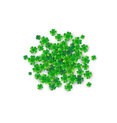 patricks day background in round circle shape with vector image vector image