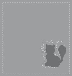 Cats silhouette vector image vector image