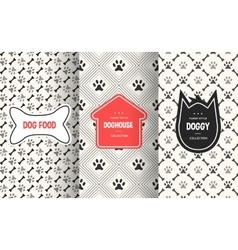 Dog seamless pattern background vector image