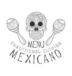 restaurant traditional mexican cuisine food menu vector image vector image
