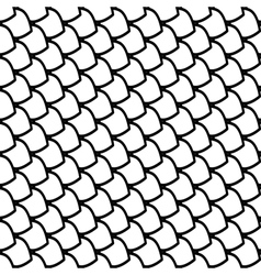 Seamless fish scales pattern vector image