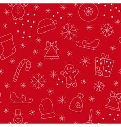 Seamless pattern christmas vector image vector image