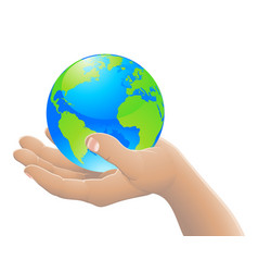 the world in your hand concept vector image