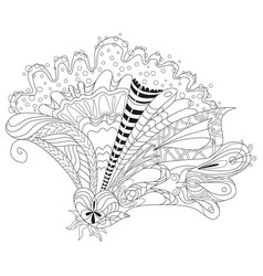 zentangle stylized flower hand drawn lace vector image vector image