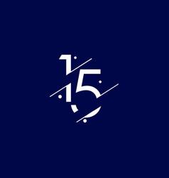 15 years anniversary celebration elegant number vector