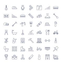 49 equipment icons vector