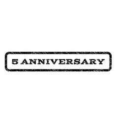5 anniversary watermark stamp vector image