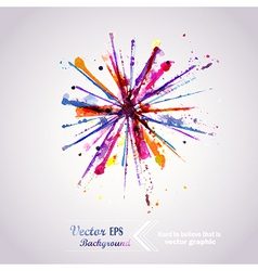 Abstract hand drawn watercolor background firework vector