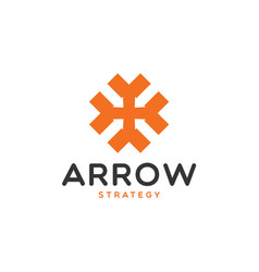 arrow financial strategy logo design vector image