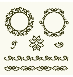 Beautiful set of line design elements vector image