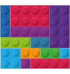 Blocks toy design vector