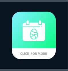 Calendar egg easter day mobile app button android vector