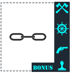 chain icon flat vector image