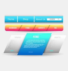 collection web buttons elements set vector image