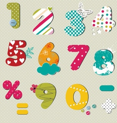 colorful numbers set vector image