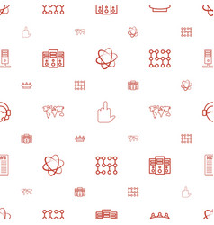 communication icons pattern seamless white vector image