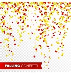 Confetti Falling Bright Explosion Isolated vector