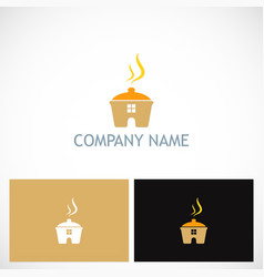 Cook house food logo vector