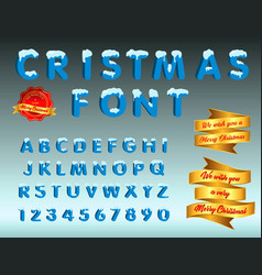 cristmas font vector image