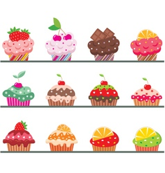 cupcakes on a regiment vector image