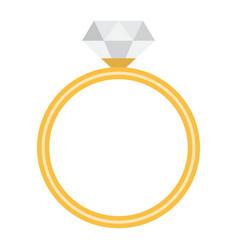 diamond ring flat icon valentines day vector image