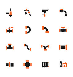 Duct icon set vector