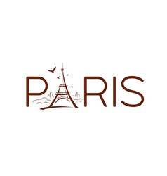 eiffel tower paris sketching design banners vector image