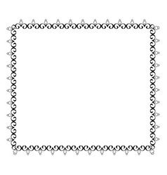 elegant victorian with square shape frame vector image