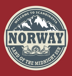 Emblem with the text Norway vector