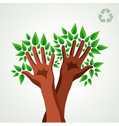 Environmental care concept vector