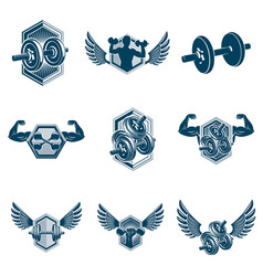 Fitness and athletics theme collection made using vector