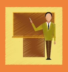 Flat shading style icon male teacher vector