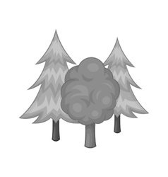 Forest icon black monochrome style vector image