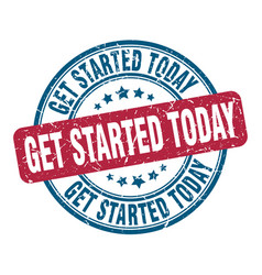 Get started today stamp get started today round vector