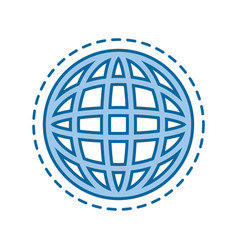 global sphere icon vector image